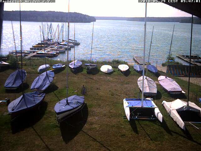 Webcam Brücklsee - Rauberweiherhaus am Yachtclub Weiden e.V.